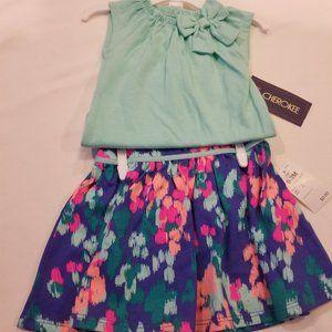 New 2 piece onesie with skirt